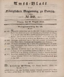 Amts-Blatt der Königlichen Regierung zu Danzig, 11. August 1847, Nr. 32