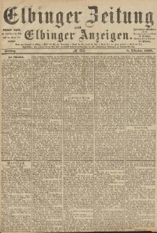 Elbinger Zeitung und Elbinger Anzeigen, Nr. 235 Freitag 8. Oktober 1886