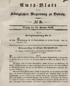 Amts-Blatt der Königlichen Regierung zu Danzig, 21. Januar 1846, Nr. 3