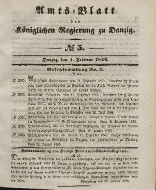 Amts-Blatt der Königlichen Regierung zu Danzig, 4. Februar 1846, Nr. 5