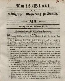 Amts-Blatt der Königlichen Regierung zu Danzig, 18. Februar 1846, Nr. 7