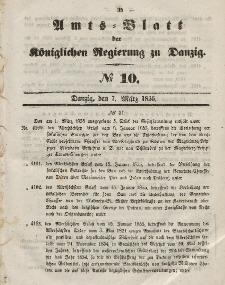 Amts-Blatt der Königlichen Regierung zu Danzig, 7. März 1855, Nr. 10