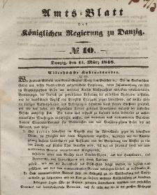 Amts-Blatt der Königlichen Regierung zu Danzig, 11. März 1846, Nr. 10
