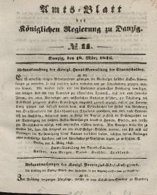 Amts-Blatt der Königlichen Regierung zu Danzig, 18. März 1846, Nr. 11