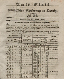 Amts-Blatt der Königlichen Regierung zu Danzig, 27. Mai 1846, Nr. 21