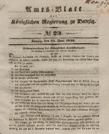 Amts-Blatt der Königlichen Regierung zu Danzig, 10. Juni 1846, Nr. 23