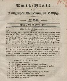 Amts-Blatt der Königlichen Regierung zu Danzig, 17. Juni 1846, Nr. 24