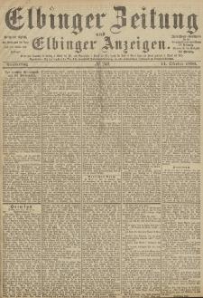 Elbinger Zeitung und Elbinger Anzeigen, Nr. 240 Donnerstag 14. Oktober 1886