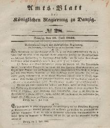 Amts-Blatt der Königlichen Regierung zu Danzig, 15. Juli 1846, Nr. 28
