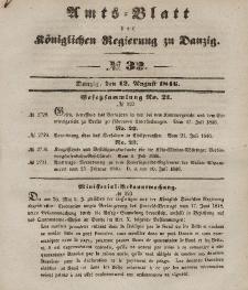 Amts-Blatt der Königlichen Regierung zu Danzig, 12. August 1846, Nr. 32