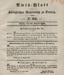 Amts-Blatt der Königlichen Regierung zu Danzig, 19. August 1846, Nr. 33