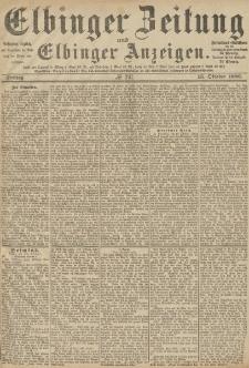 Elbinger Zeitung und Elbinger Anzeigen, Nr. 241 Freitag 15. Oktober 1886
