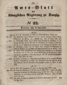 Amts-Blatt der Königlichen Regierung zu Danzig, 30. Mai 1855, Nr. 22