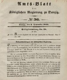Amts-Blatt der Königlichen Regierung zu Danzig, 9. September 1846, Nr. 36