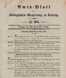 Amts-Blatt der Königlichen Regierung zu Danzig, 23. September 1846, Nr. 38
