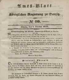 Amts-Blatt der Königlichen Regierung zu Danzig, 7. Oktober 1846, Nr. 40