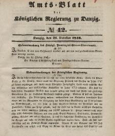 Amts-Blatt der Königlichen Regierung zu Danzig, 21. Oktober 1846, Nr. 42