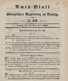 Amts-Blatt der Königlichen Regierung zu Danzig, 18. November 1846, Nr. 46