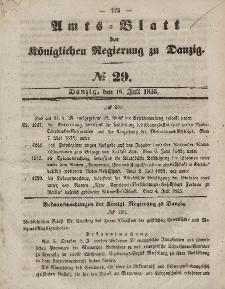 Amts-Blatt der Königlichen Regierung zu Danzig, 18. Juli 1855, Nr. 29
