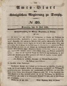Amts-Blatt der Königlichen Regierung zu Danzig, 25. Juli 1855, Nr. 30