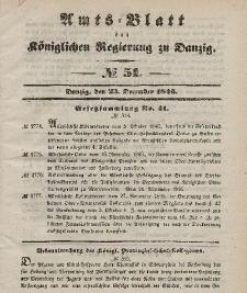 Amts-Blatt der Königlichen Regierung zu Danzig, 23. Dezember 1846, Nr. 51