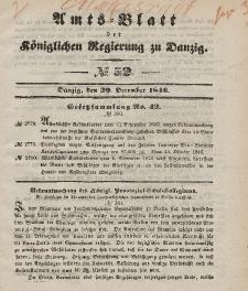 Amts-Blatt der Königlichen Regierung zu Danzig, 30. Dezember 1846, Nr. 52