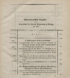 Amts-Blatt der Königlichen Regierung zu Danzig. Jahrgang 1846 (Chronologisches Register)