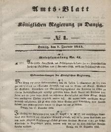 Amts-Blatt der Königlichen Regierung zu Danzig, 1. Januar 1845, Nr. 1