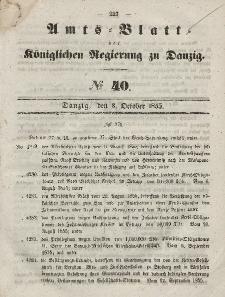 Amts-Blatt der Königlichen Regierung zu Danzig, 3. Oktober 1855, Nr. 40