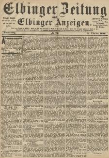 Elbinger Zeitung und Elbinger Anzeigen, Nr. 246 Donnerstag 21. Oktober 1886