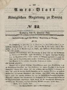 Amts-Blatt der Königlichen Regierung zu Danzig, 17. Oktober 1855, Nr. 42