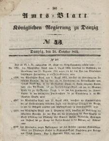 Amts-Blatt der Königlichen Regierung zu Danzig, 24. Oktober 1855, Nr. 43