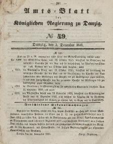 Amts-Blatt der Königlichen Regierung zu Danzig, 5. Dezember 1855, Nr. 49