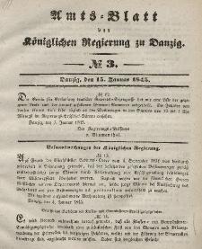 Amts-Blatt der Königlichen Regierung zu Danzig, 15. Januar 1845, Nr. 3