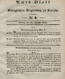 Amts-Blatt der Königlichen Regierung zu Danzig, 22. Januar 1845, Nr. 4