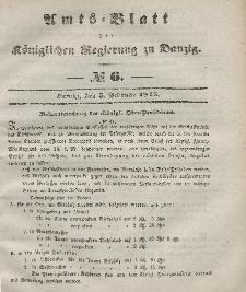 Amts-Blatt der Königlichen Regierung zu Danzig, 5. Februar 1845, Nr. 6