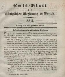 Amts-Blatt der Königlichen Regierung zu Danzig, 12. Februar 1845, Nr. 7