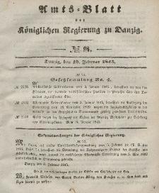 Amts-Blatt der Königlichen Regierung zu Danzig, 19. Februar 1845, Nr. 8