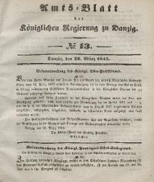 Amts-Blatt der Königlichen Regierung zu Danzig, 26. März 1845, Nr. 13