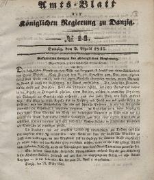 Amts-Blatt der Königlichen Regierung zu Danzig, 2. April 1845, Nr. 14