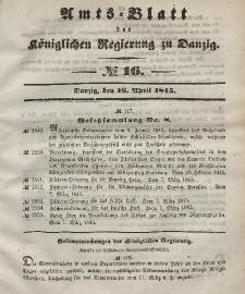 Amts-Blatt der Königlichen Regierung zu Danzig, 16. April 1845, Nr. 16