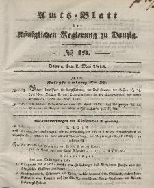 Amts-Blatt der Königlichen Regierung zu Danzig, 7. Mai 1845, Nr. 19