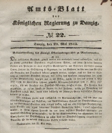 Amts-Blatt der Königlichen Regierung zu Danzig, 28. Mai 1845, Nr. 22