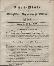 Amts-Blatt der Königlichen Regierung zu Danzig, 11. Juni 1845, Nr. 24
