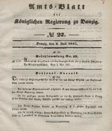 Amts-Blatt der Königlichen Regierung zu Danzig, 2. Juli 1845, Nr. 27