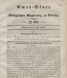 Amts-Blatt der Königlichen Regierung zu Danzig, 9. Juli 1845, Nr. 28