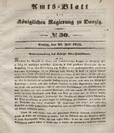 Amts-Blatt der Königlichen Regierung zu Danzig, 23. Juli 1845, Nr. 30