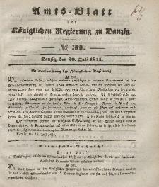 Amts-Blatt der Königlichen Regierung zu Danzig, 30. Juli 1845, Nr. 31