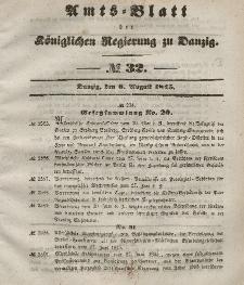 Amts-Blatt der Königlichen Regierung zu Danzig, 6. August 1845, Nr. 32