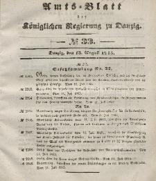 Amts-Blatt der Königlichen Regierung zu Danzig, 13. August 1845, Nr. 33
